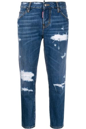 Dsquared2 Mädchen Straight - Beach Cool Girl' Cropped-Jeans