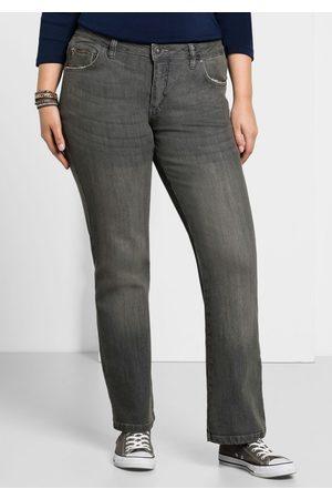 Sheego Große Größen: Bootcut-Stretch-Jeans MAILA, grey Denim, Gr.40