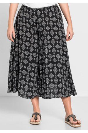 Sheego Große Größen: Hosenrock mit zwei Taschen, bedruckt, Gr.44