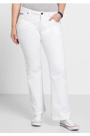 Sheego Große Größen: Bootcut-Stretch-Jeans MAILA, white Denim, Gr.40