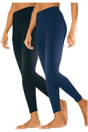 vivance collection Große Größen: 2er tight leggings, marine+ , Gr.40/42