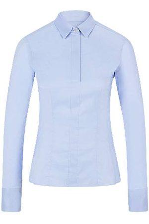 BOSS Slim-Fit Bluse aus elastischem Baumwoll-Mix mit Popeline-Struktur