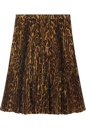 Burberry Plisseerock mit Leoparden-Print