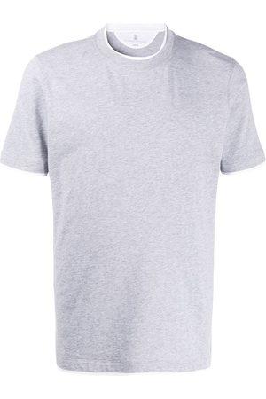 Brunello Cucinelli T-Shirt im Layering-Look