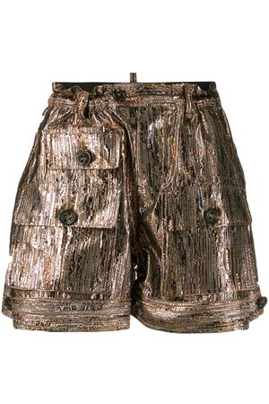Dsquared2 Shorts in Metallic-Optik