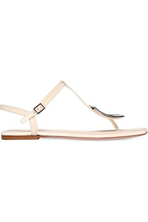 Roger Vivier 10mm Biki Viv Thong Leather Sandals