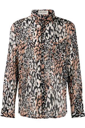 Saint Laurent Hemd mit Leoparden-Print
