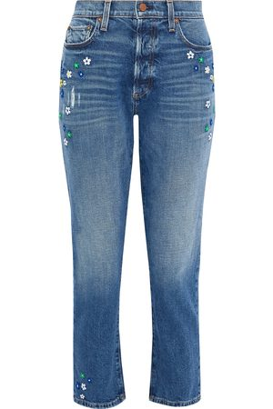 ALICE+OLIVIA Damen Cropped - DENIM - Jeanshosen