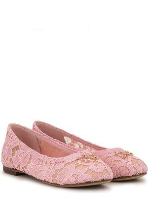 Dolce & Gabbana Kids Ballerinas aus Spitze