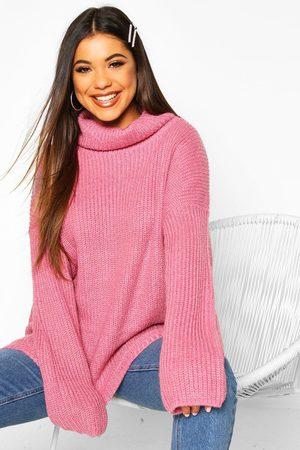 Boohoo Womens Oversized Pullover Mit Rollkragen - - S