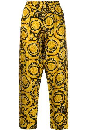 VERSACE Pyjama-Hose mit barockem Print