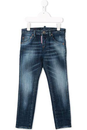 Dsquared2 Kids Jungen Skinny - Ausgeblichene Skinny-Jeans