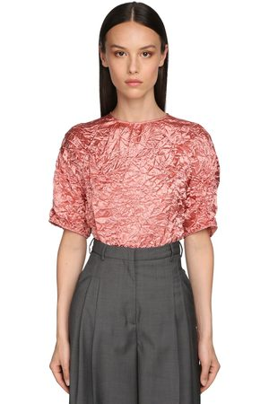 Rochas Broken Short Sleeved Acetate Top