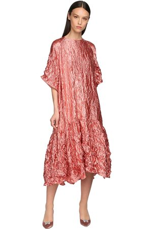 Rochas Broken Ruffled Midi Dress