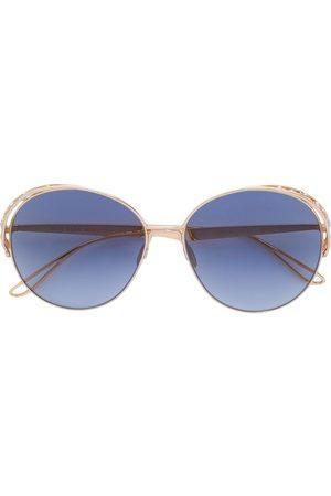 Elie Saab Runde Sonnenbrille mit Swarovski-Kristallen