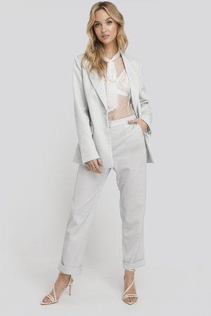 NA-KD Glittery Pants - Silver