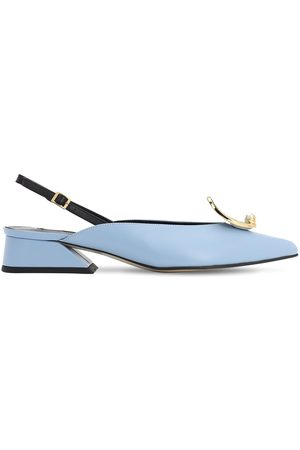 YUUL YIE 30mm Sling Back Leather Pumps