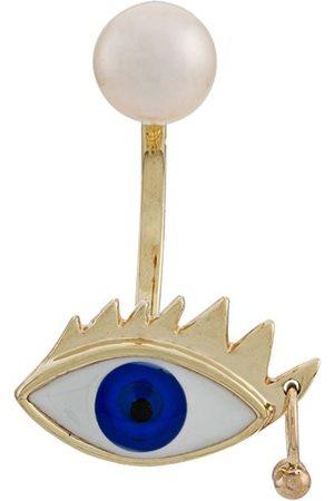 Delfina Delettrez Damen Ohrringe - 9kt 'Eye Piercing' Gelbgoldohrring