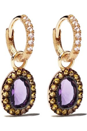 ANNOUSHKA Damen Ohrringe - 18kt Goldhängeohrringe mit Diamanten
