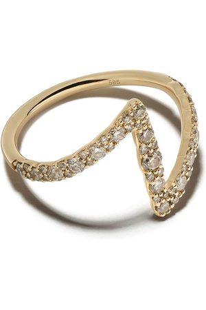 ASTLEY CLARKE Flash Interstellar' Gelbgoldring mit Diamanten