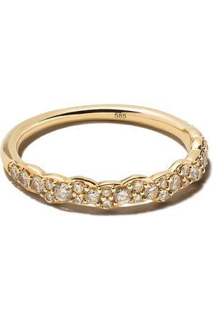 ASTLEY CLARKE 14kt 'Linia Interstellar' Gelbgoldring mit Diamanten