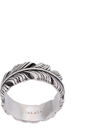 Nialaya Herren Ringe - Ring mit gravierter Feder