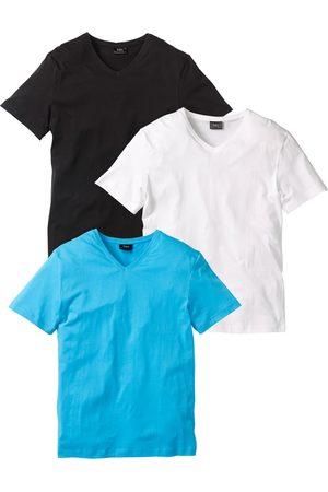 bonprix Jungen Poloshirts - T-Shirt mit V-Ausschnitt (3er Pack)