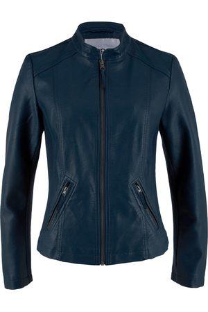 Bonprix Lederimitat-Jacke mit seitliche Stretcheinsätzen