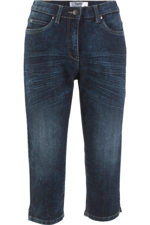 Bonprix Capri-Jeans mit Bequembund im Used-Look