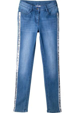 Bonprix Skinny-Jeans mit Paillettenseitenstreifen