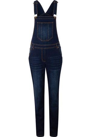 bonprix Damen Latzhosen - Jeans-Latzhose mit extra Weite