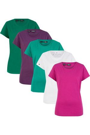 bonprix Mädchen T-Shirts - Rundhals-Shirt (5er-Pack), Kurzarm