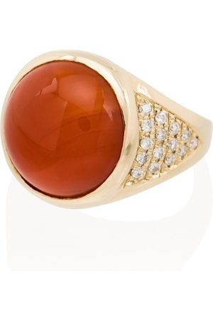 Jacquie Aiche Damen Ringe - 14kt Rotgoldring mit Diamanten
