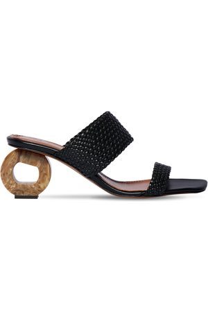 Souliers Martinez 65mm Woven Leather Sandals