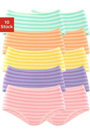 Go In Damen Slips - Taillenslip (10 Stück) mit tollem Streifendruck