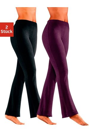 vivance collection Leggings & Treggings - Jazzpants (2er-Pack) mit leicht ausgestelltem Bein