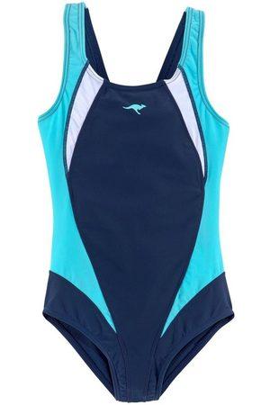 KangaROOS Badeanzug, mit sportlichen Kontrasteinsätzen