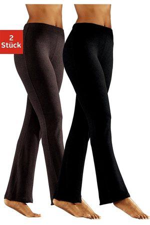 vivance collection Leggings & Treggings - Jazzpants (2er-Pack) mit leicht ausgestelltem Bein