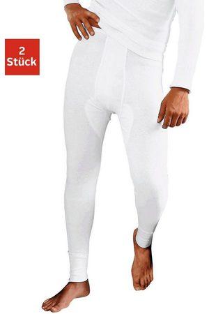 Clipper Herren Lange Hosen - Lange Unterhose (2 Stück)aus Feinripp, mit Eingriff