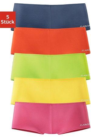 FLASHLIGHTS Damen Shorts - Panty (5 Stück)mit seitlichem Logodruck