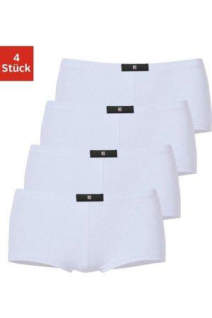 H.I.S Damen Shorts - Panty (4 Stück) mit Label vorn