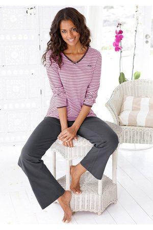 H.I.S Pyjama mit leicht ausgestelltem Hosenbein