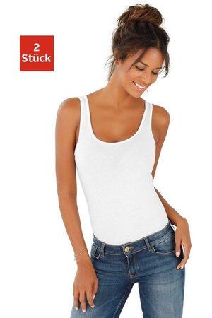 vivance collection Shirtbody (2er-Pack) aus Baumwoll-Stretch-Qualität