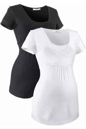 Neun Monate Umstandsshirt (Packung, 2-tlg) ideal zum Stillen