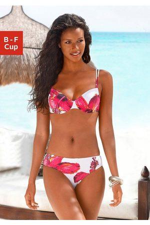 Lascana Damen Bikinis - Bügel-Bikini mit plakativem Blütenprint
