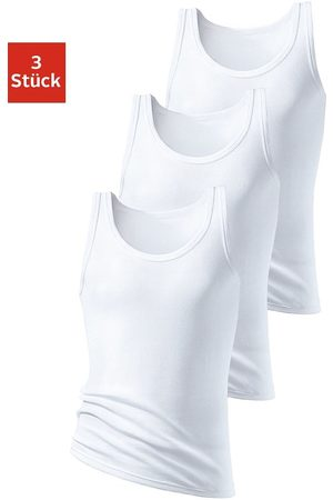 H.I.S Herren Unterhemden und Unterziehshirts - Unterhemd (3 Stück), in Doppelripp, ohne Seitennähte
