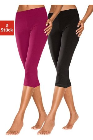 Vivance Leggings & Treggings - Caprileggings (2er-Pack) mit Gummibund
