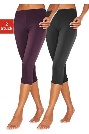 Vivance Caprileggings (2er-Pack) mit Gummibund