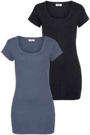 FLASHLIGHTS Damen T-Shirts, Polos & Longsleeves - T-Shirt (Packung, 2er-Pack) in Longform