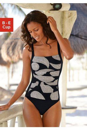 LASCANA Damen Badeanzüge - Badeanzug, im modischen Floralprint mit Shaping-Effekt